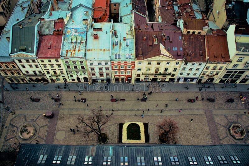 Lviv`s oldtown, Ukraine royalty free stock images