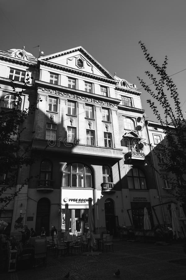 Lviv stadssikt, Ukraina royaltyfri foto
