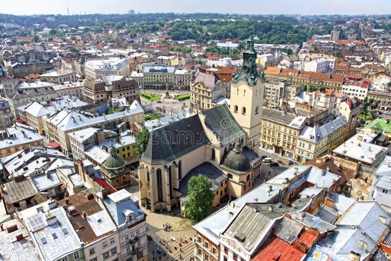 Lviv stary miasteczko, Ukraina obrazy stock