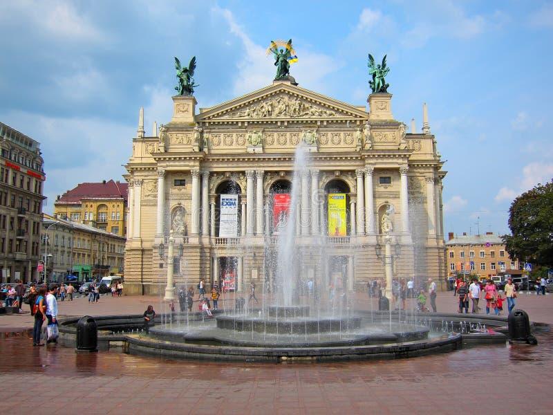Lviv Theatre Of Opera And Ballet, Ukraine Editorial Photo