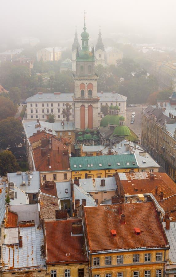 Lviv, Ucrânia a igreja de Dormition ou de suposição fotografia de stock royalty free