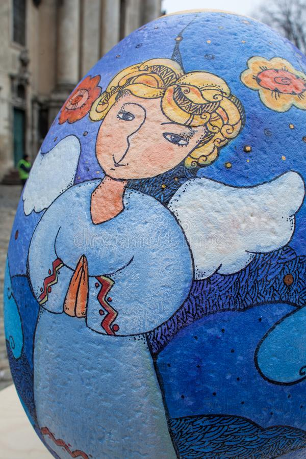 Lviv Ukraina - mars 29, 2018 Påskfestival i Lviv arkivbilder