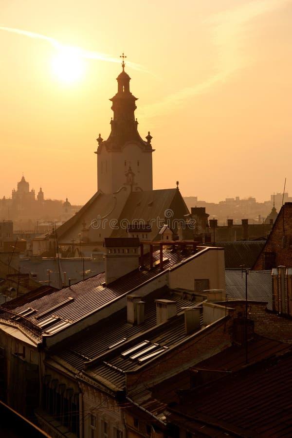 lviv ukraine arkivbilder