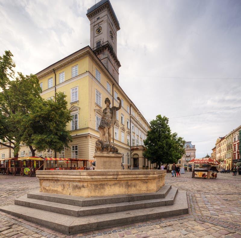 Lviv ukraine royaltyfri foto