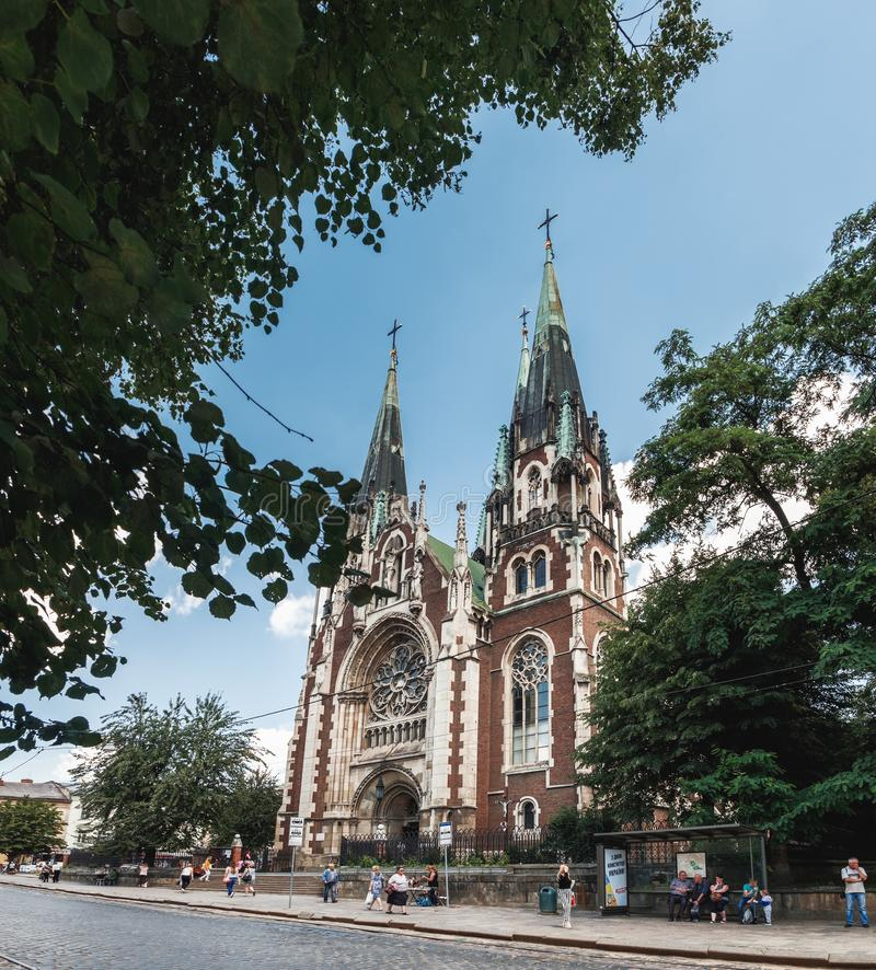 Church of St. Olha and Elizabeth in Lviv, Ukraine royalty free stock images
