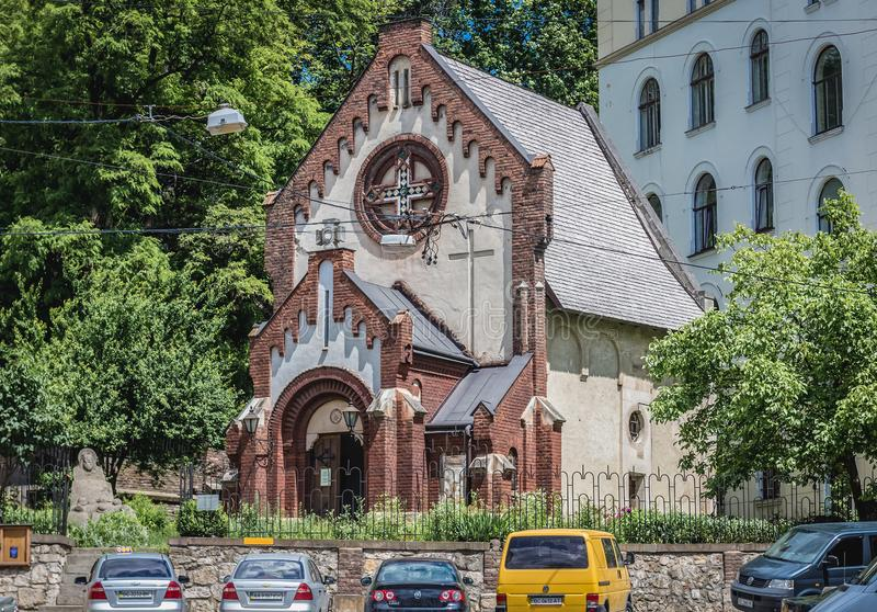 Church in Lviv stock image