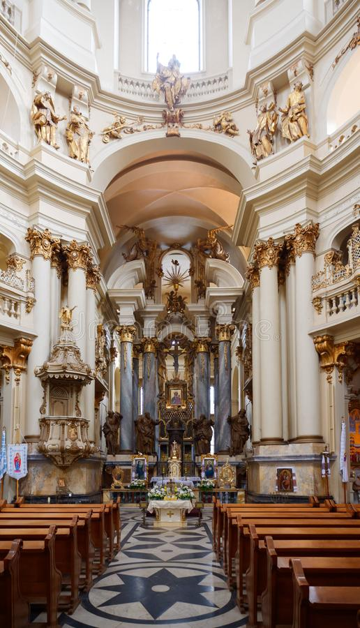 LVIV, UKRAINE - NOVEMBER 9, 2019: St. George`s Cathedral in Lviv stock images