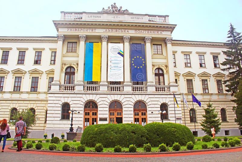 Lviv Universitys nacional politécnico la universidad científica más grande de Lviv, Ucrania fotografía de archivo