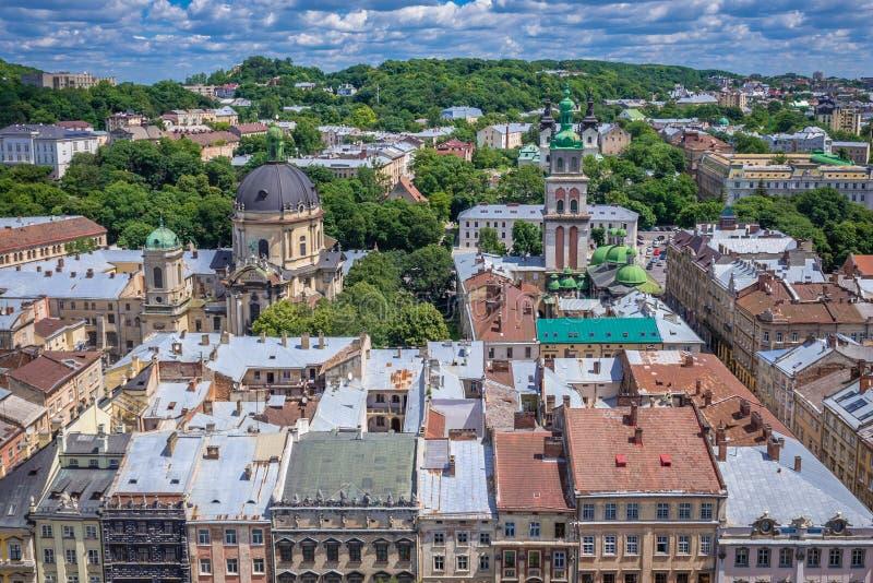 Lviv w Ukraina obrazy royalty free