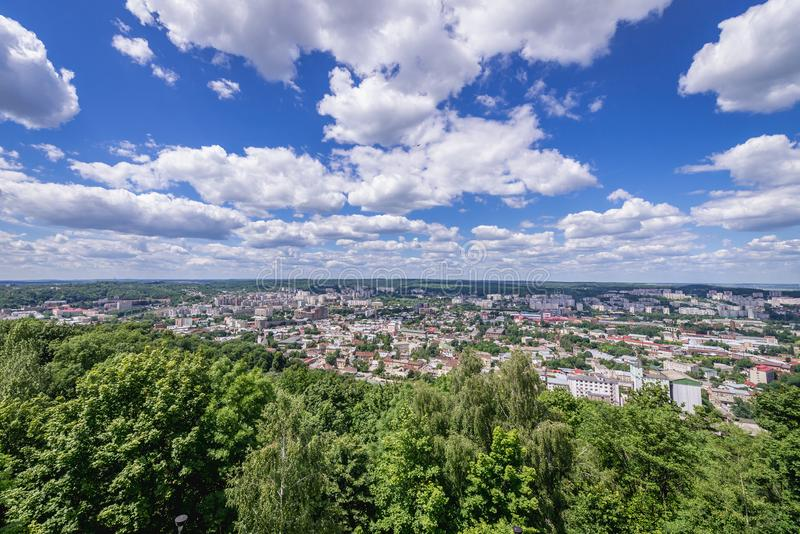 Lviv w Ukraina obraz royalty free