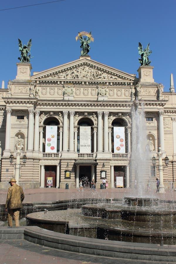 Lvivtheater stock foto's