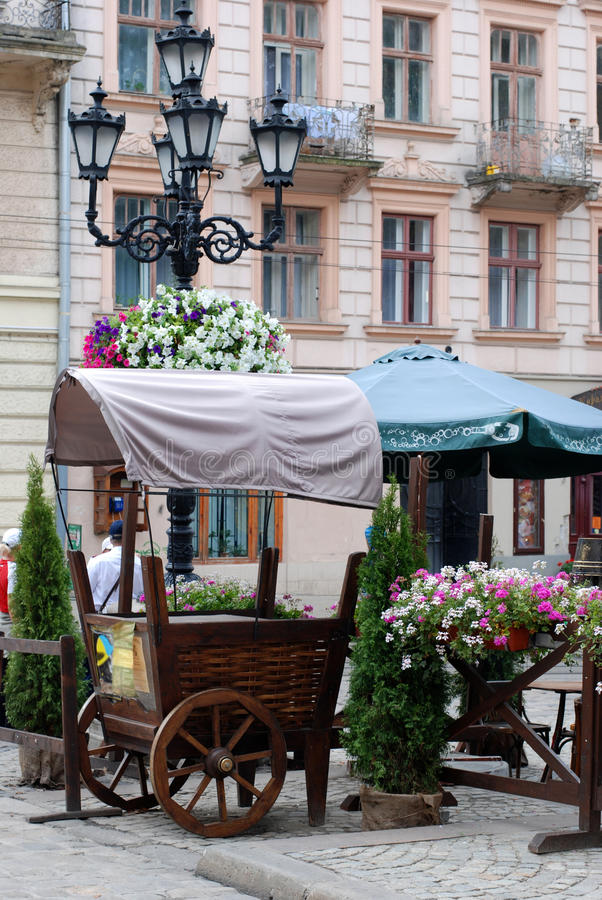 lvov οδός σκηνής στοκ φωτογραφία με δικαίωμα ελεύθερης χρήσης