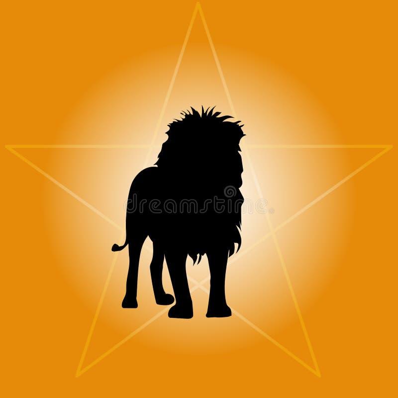 Lwów stojaki w słońcu ilustracja wektor