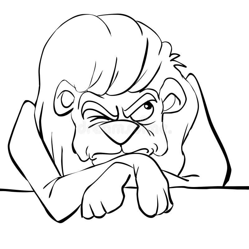 lwa czarny gderliwy biel ilustracji