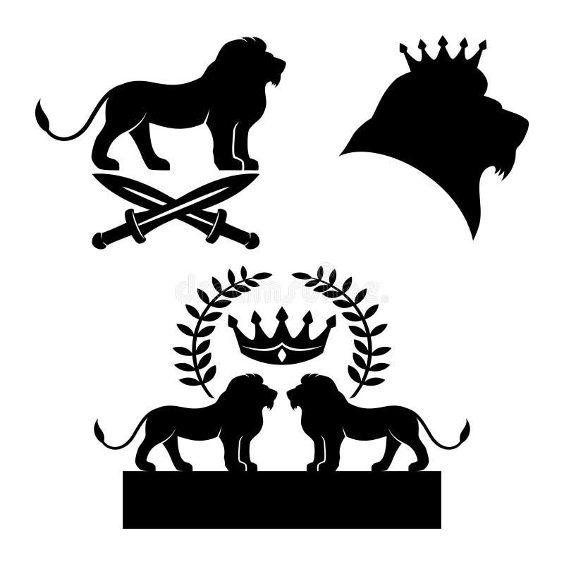 Lwa czerni znaki royalty ilustracja