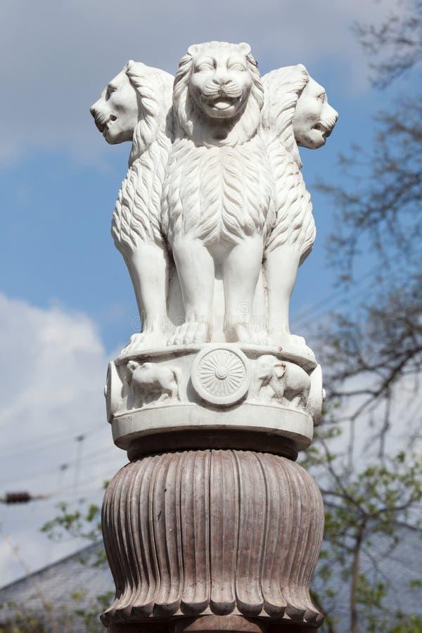 Lwa kapitał filary Ashoka od Sarnath zdjęcie stock