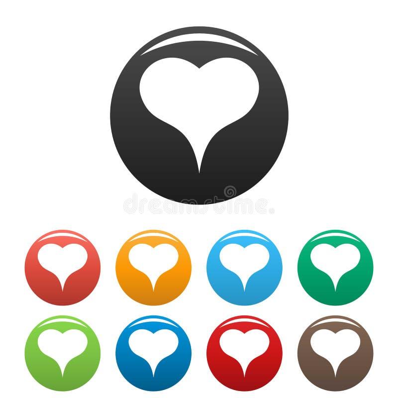 Lwa Kierowe ikony ustawiający kolor royalty ilustracja