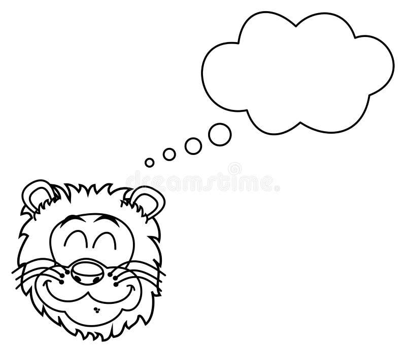 Download Lwa Kierowniczy Ono Uśmiecha Się Dla Barwić Ilustracji - Ilustracja złożonej z złotko, mięsożerny: 57662664