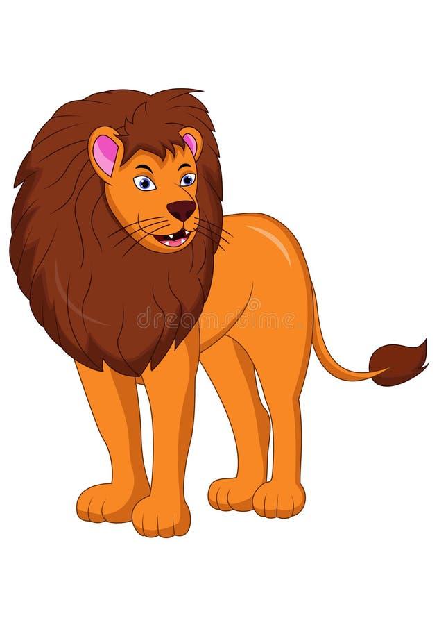 Lwa królewiątka kreskówka ilustracja wektor