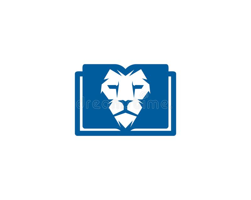 Lwa loga ikony Książkowy projekt ilustracji