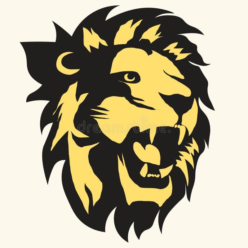 Lwa logo wektor ilustracja wektor