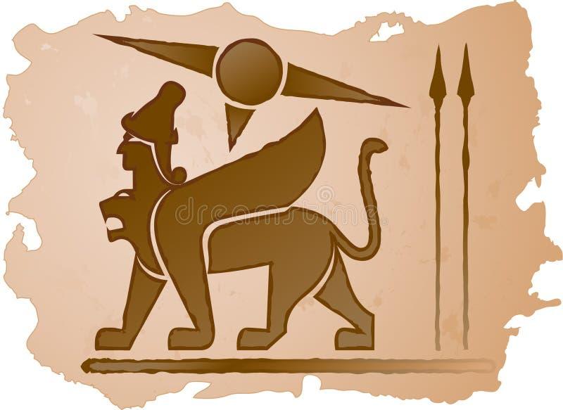 lwa mężczyzna ilustracja wektor