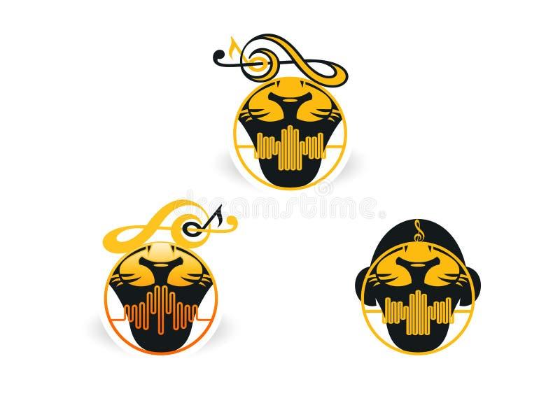 Lwa rytmu logo ilustracja wektor
