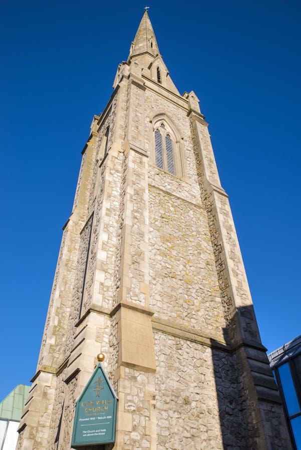 Lwa spacer Jednoczący Reformowany kościół w Colchester fotografia stock