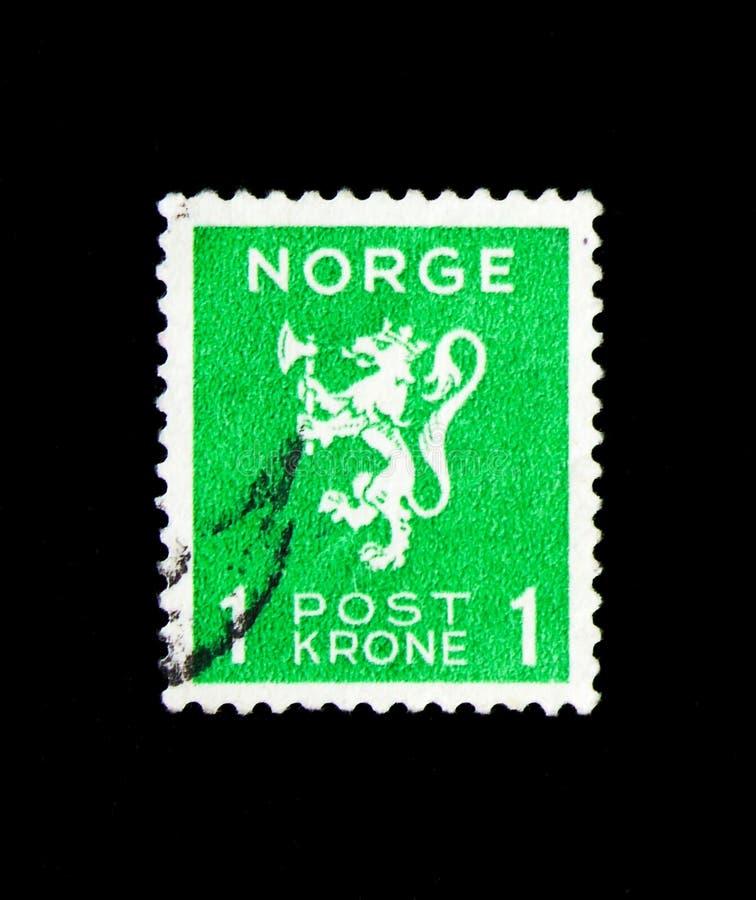 Lwa typ, koron wartości, lwa typ, korona ceni seria, około 1940 obrazy stock