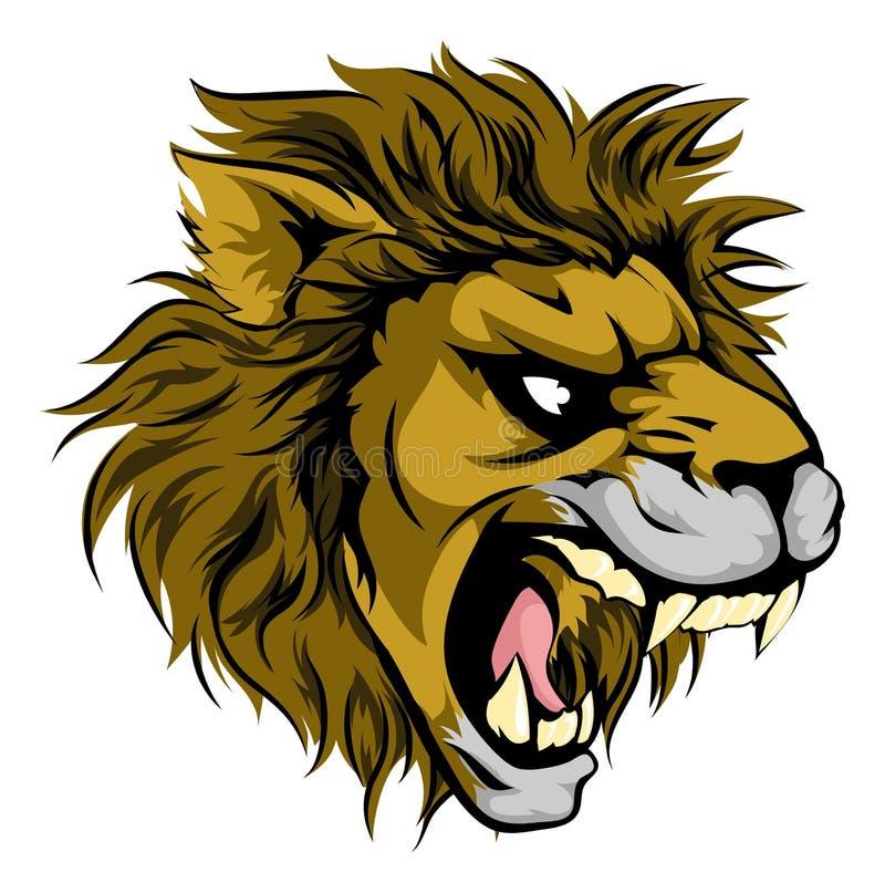 Lwa zwierzę bawi się maskotki ilustracja wektor