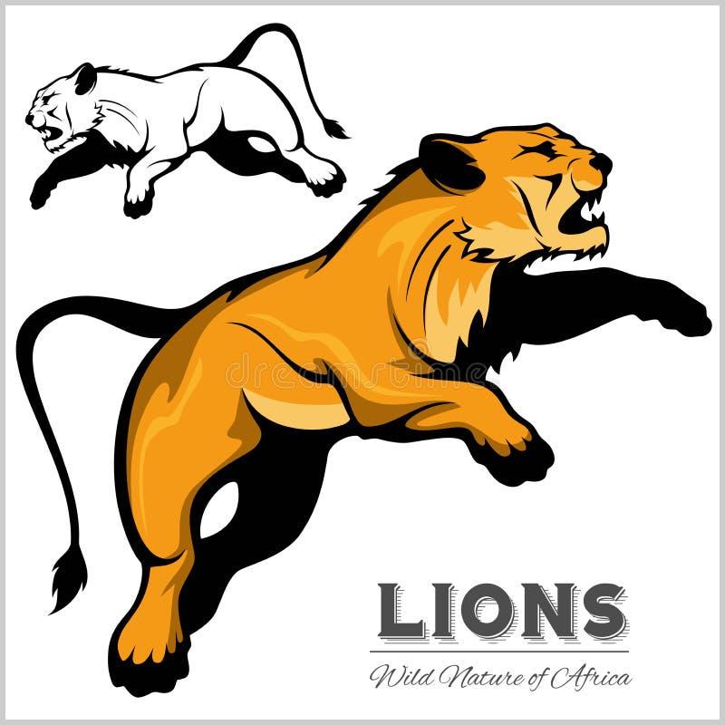 lwica Wektoru odosobniony zwierzę royalty ilustracja