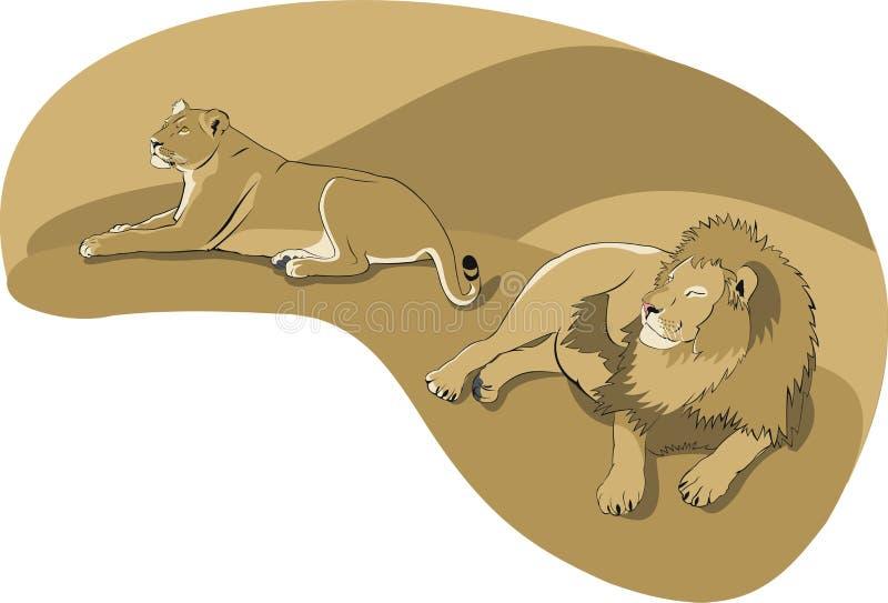 lwy royalty ilustracja