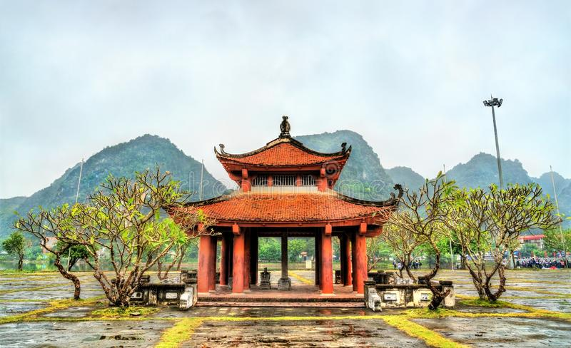 Ly Thai To Beer House at Hoa Lu, ancient capital of Vietnam. Trang An Scenic Landscape Complex royalty free stock image