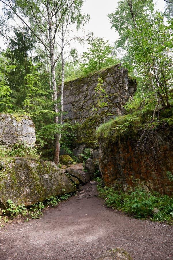 Lya-bunker för varg` s museum i Polen fotografering för bildbyråer