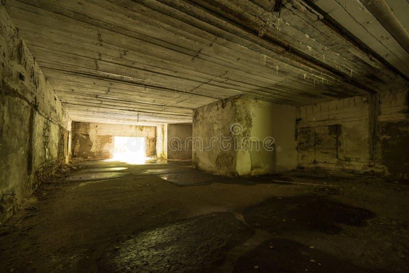 Lya för varg` s, bunker för Adolf Hitler ` s, Polen Första östliga främre militära högkvarter, världskrig II Komplext uppblåst, ö arkivfoton