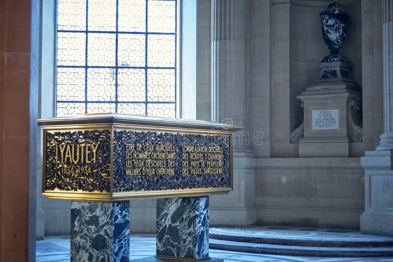 Lyautey grobowiec w mauzoleumu Napoleon Paryż zdjęcia royalty free