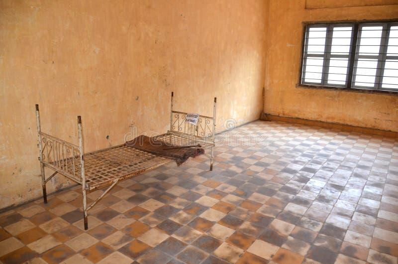 Lycée S-21 de Khmer Rouge images stock