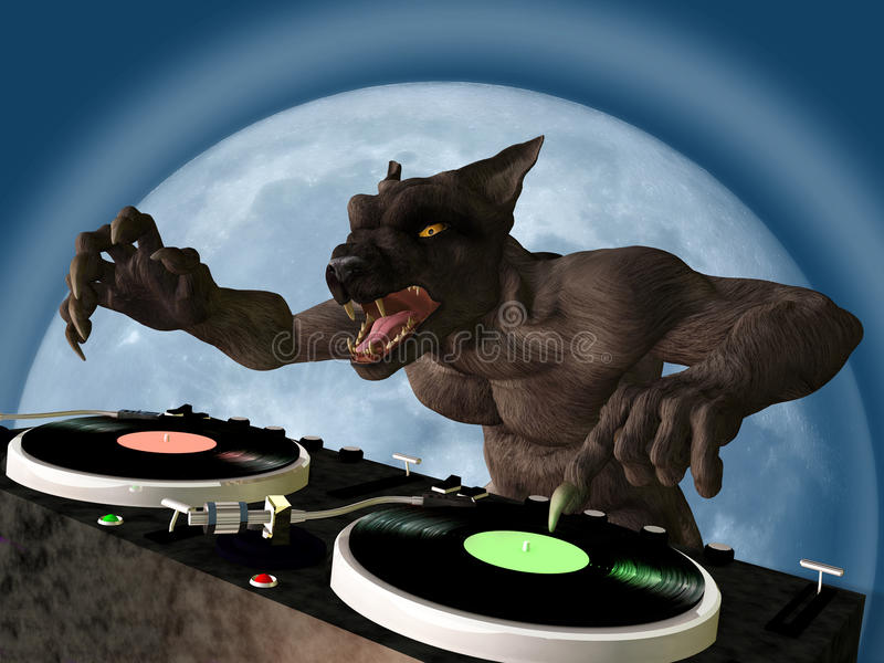 Download Lycan DJ stock illustration. Illustration of holiday - 27244142