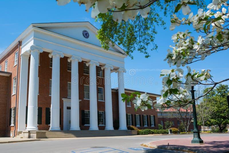 Lyceum bij de Universiteit van de Mississippi stock fotografie