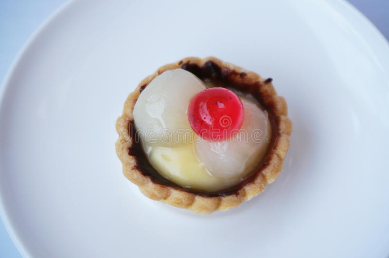 Lychee果子馅饼 免版税库存照片