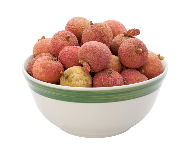 Download Lychee Bowl Isolated On White Stock Photo - Image of isolated, fresh: 25778872
