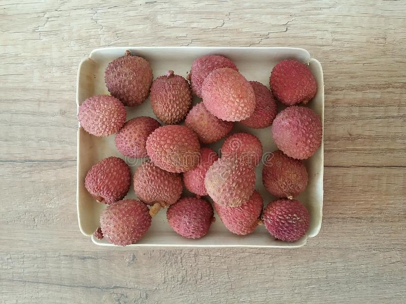 Lychee het fruit stock fotografie