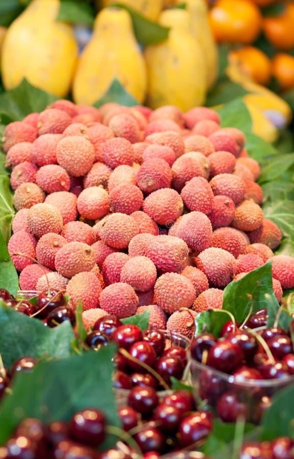 lychees royaltyfri fotografi