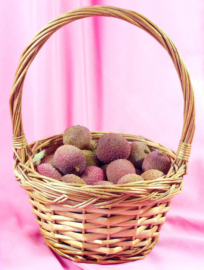 Download Lychee in basket stock photo. Image of tropical, healthy - 23503306