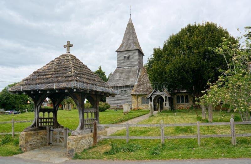 Lychgate &圣彼得教会,Newdigate,萨里,英国 免版税库存图片
