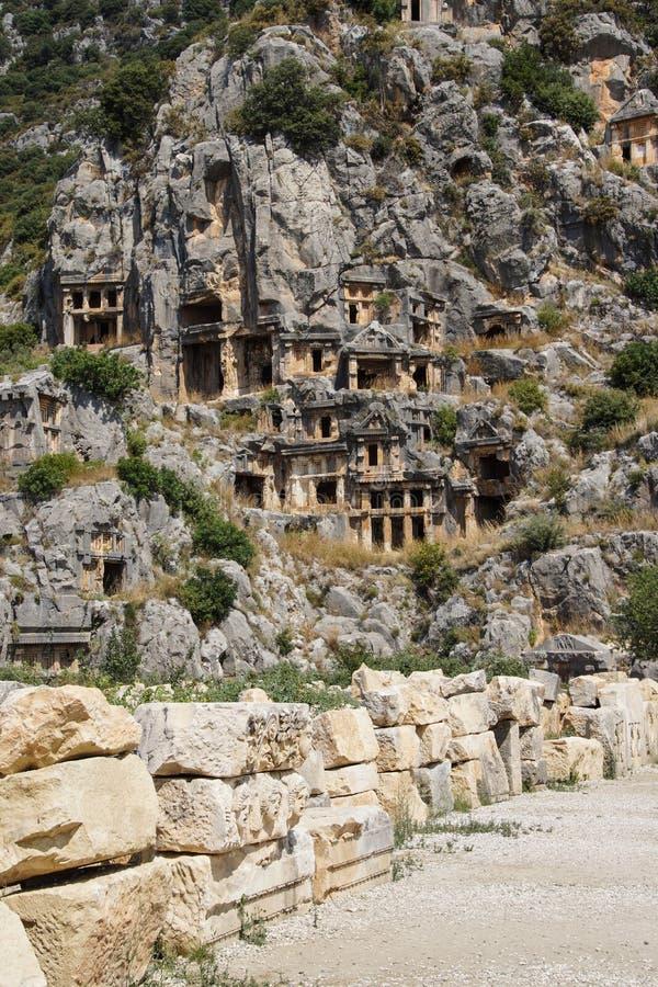 Lycian岩石裁减坟茔 免版税库存图片