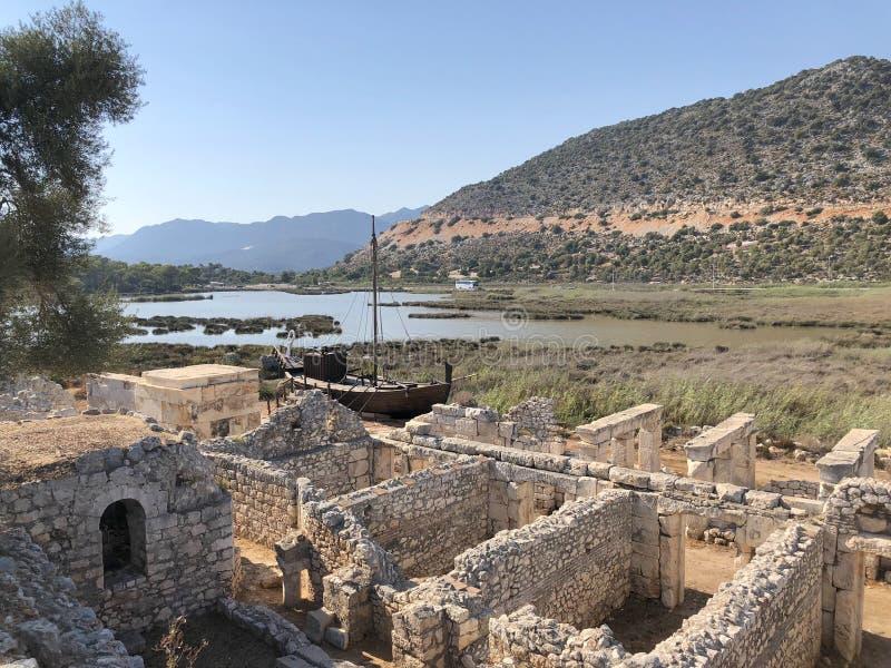 Lycian Antieke Stad in Turkije Lycianbeschaving stock foto
