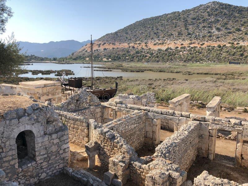 Lycian Antieke Stad in Turkije Lycianbeschaving stock foto's