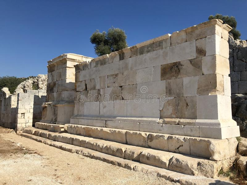 Lycian Antieke Stad in Turkije Lycianbeschaving royalty-vrije stock fotografie