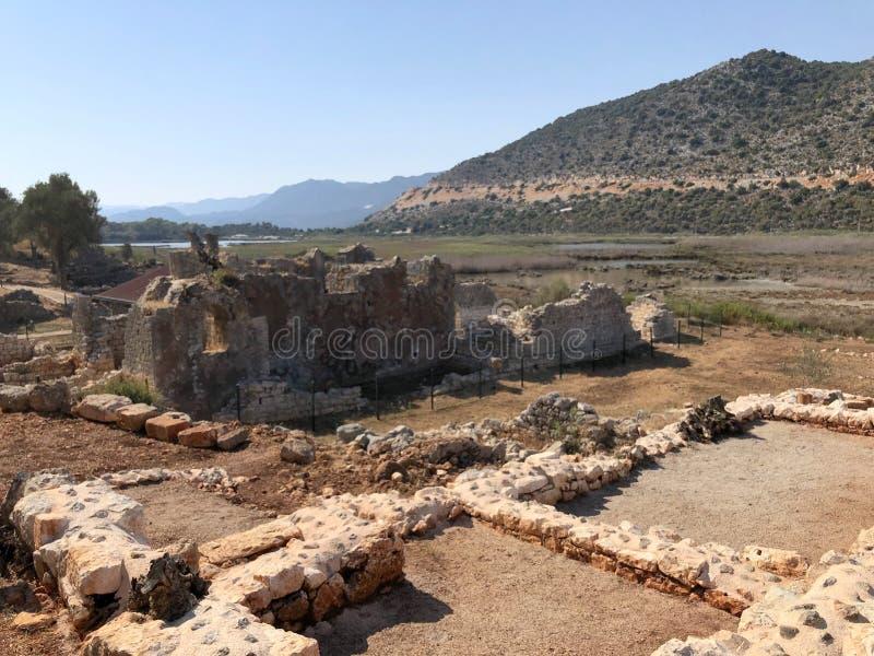 Lycian Antieke Stad in Turkije Lycianbeschaving royalty-vrije stock foto's